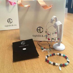 Aglaiaco diouk collection bijoux caprice p%c3%a9tillant bracelet multicouleurs