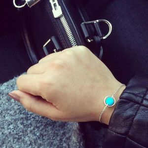 Aglaiaco secretsoflifestyle collection bijoux o bracelet argent turquoise