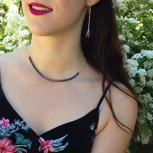 Aglaiaco sentiment contraire collection bijoux collier pierre h%c3%a9matite