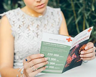 Aglaiaco croix rouge association magazine header