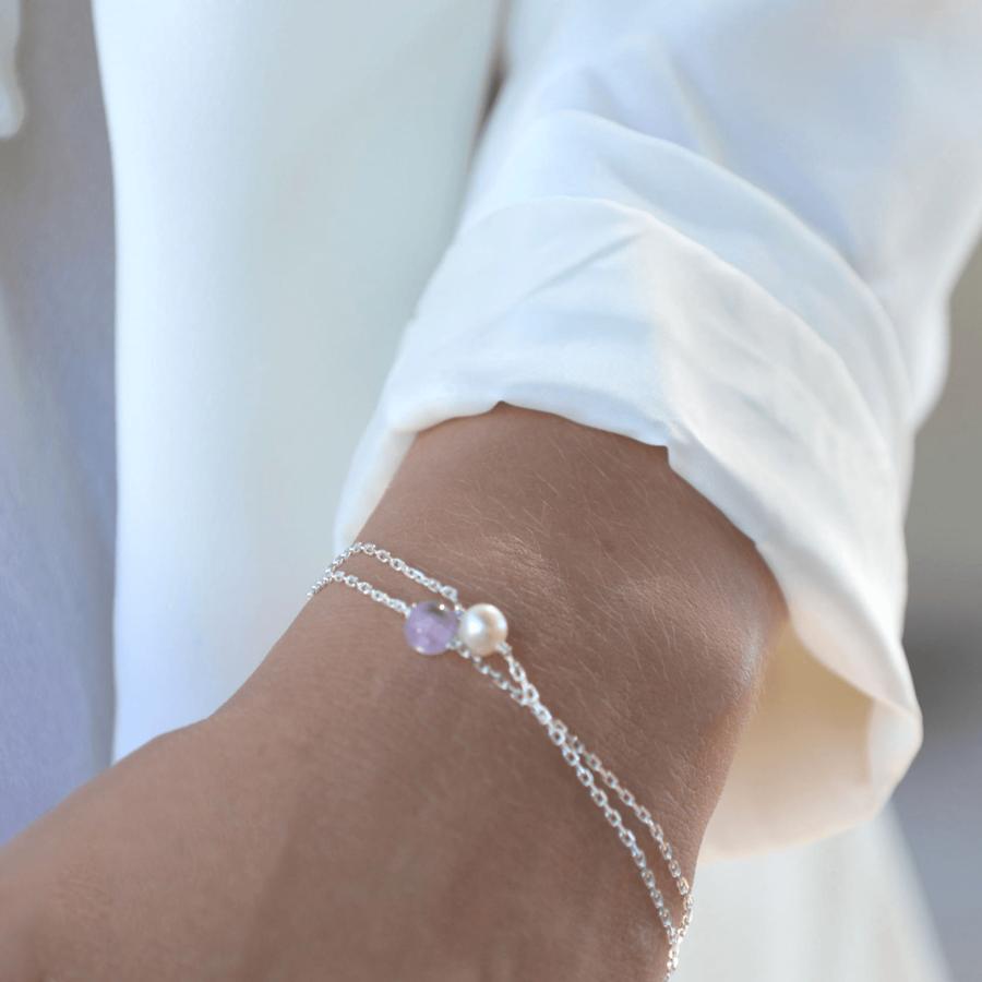 Aglaia bijoux argent pierre amethyste elegance eternelle 3