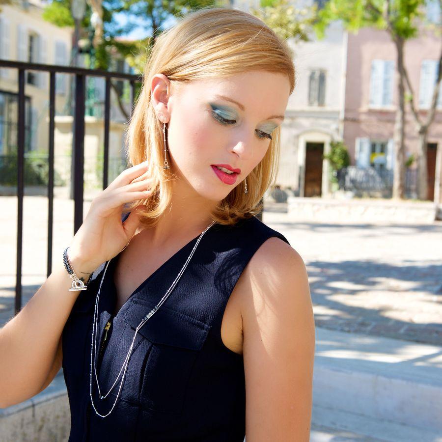 Aglaia bijoux argent pierre hematite pyrite sentiments contraires 6