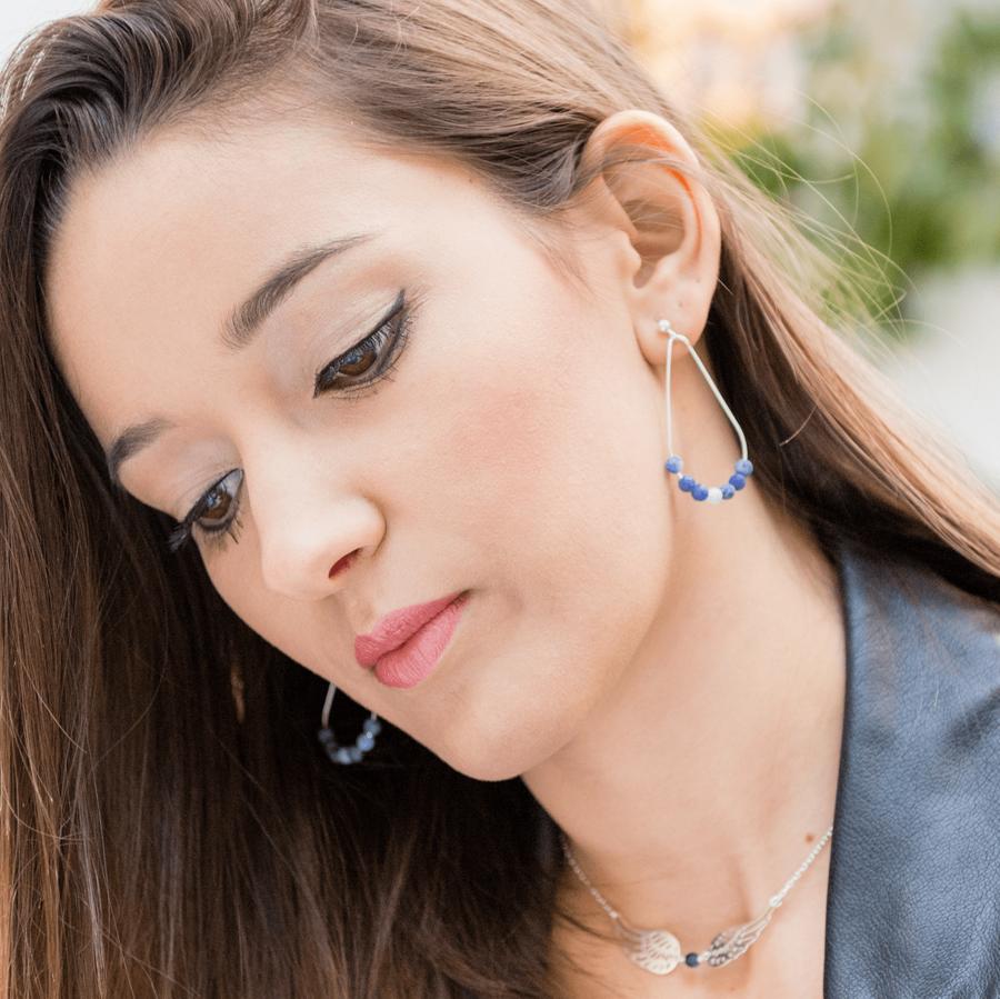 Aglaia bijoux argent pierre reve eaux profondes sodalite 5