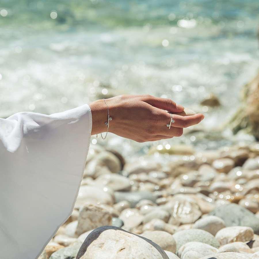 Aglaiaco bijoux argent pierre france ethique equilibre bracelet bague quartz cabochon