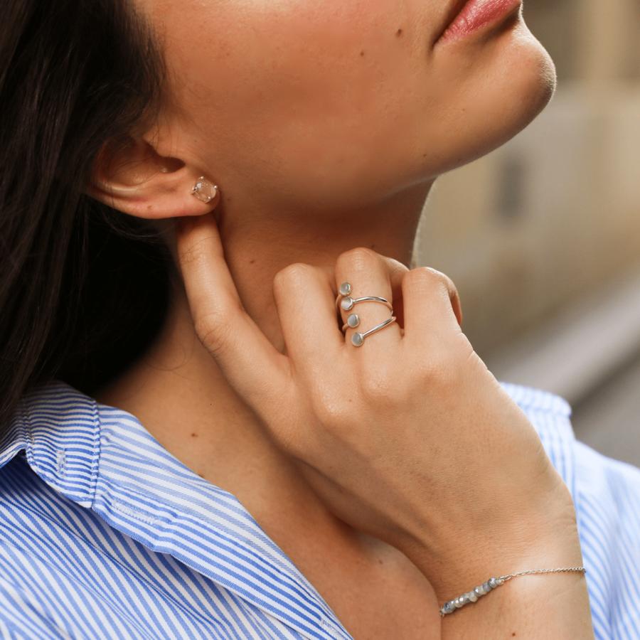 Bracelets argent pierre quartz saphir miss france aglaiaco %283%29