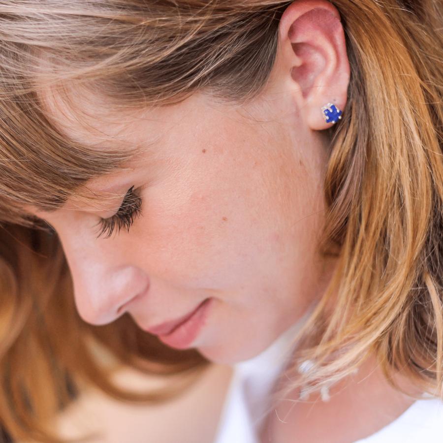 Bijoux argent etoile lune lapis lazuli bleu aglaiaco %284%29