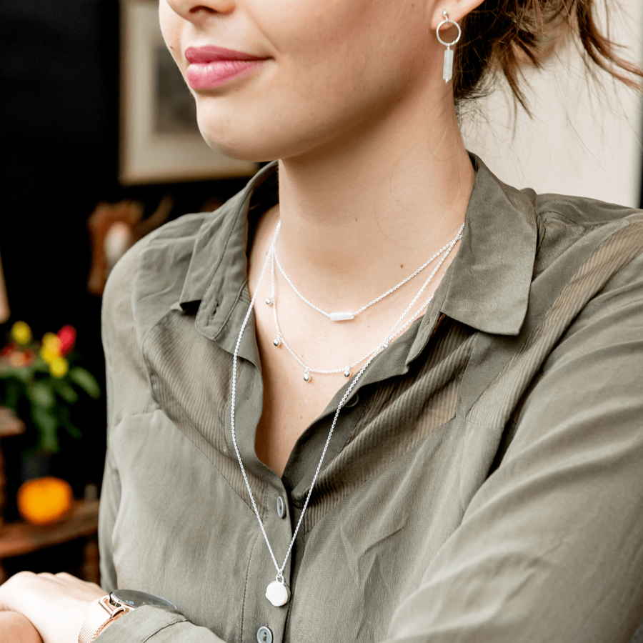 Collier boucles oreilles bijoux argent massif pierre aglaiaco