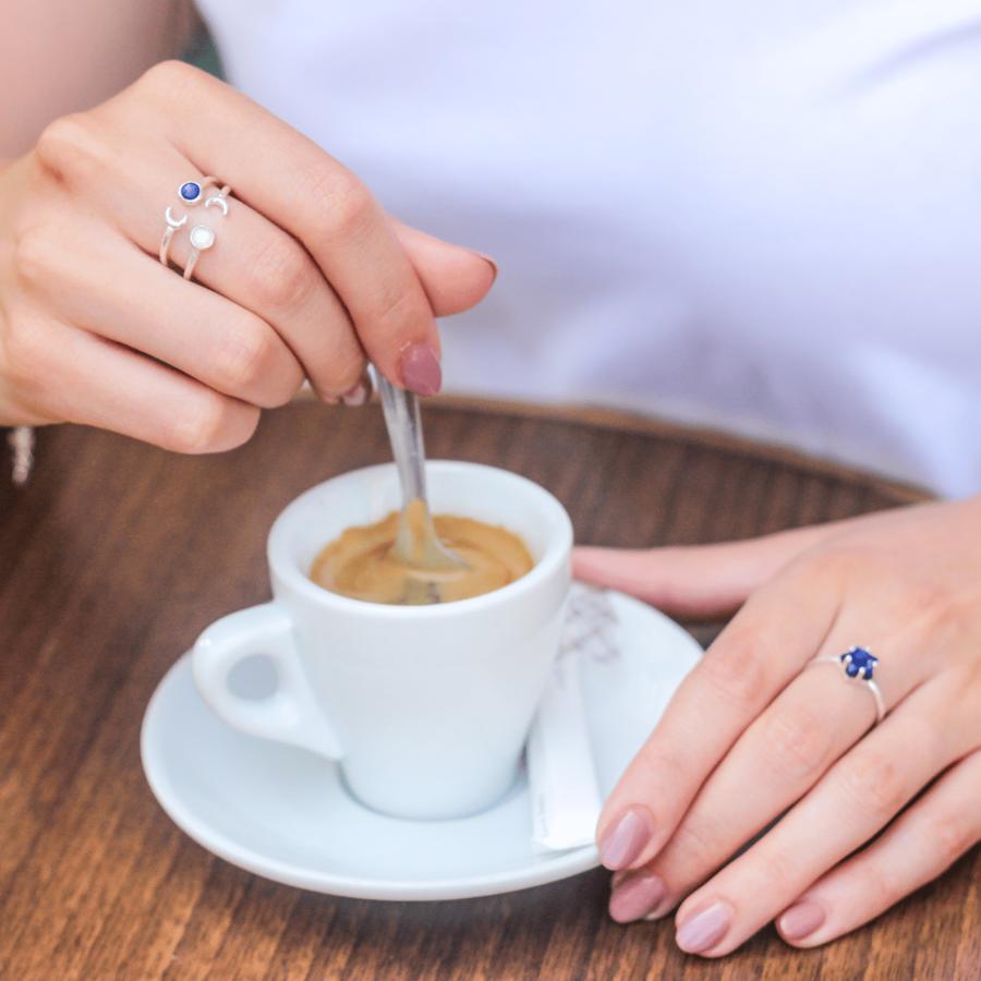 Bijoux argent etoile lune lapis lazuli bleu aglaiaco %283%29