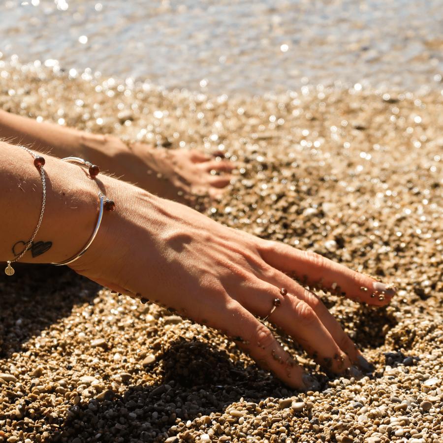 Bijoux argent elegance grenat bracelet bague aglaiaco %283%29