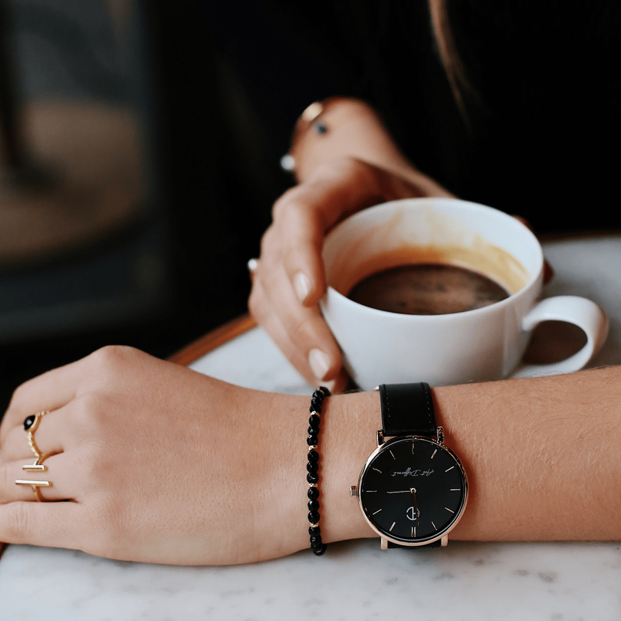 Montre bracelet milanais bague plaque or bijoux aglaiaco %283%29