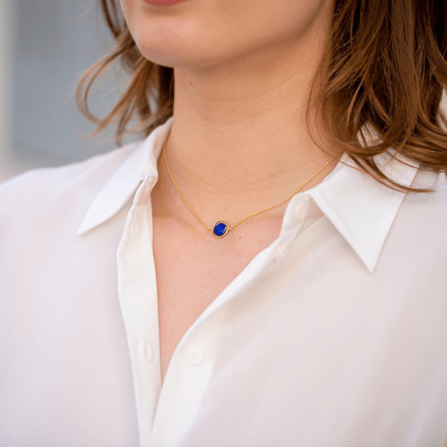 Bijoux aglaia pierre plaqu%c3%a9 or lapis lazuli