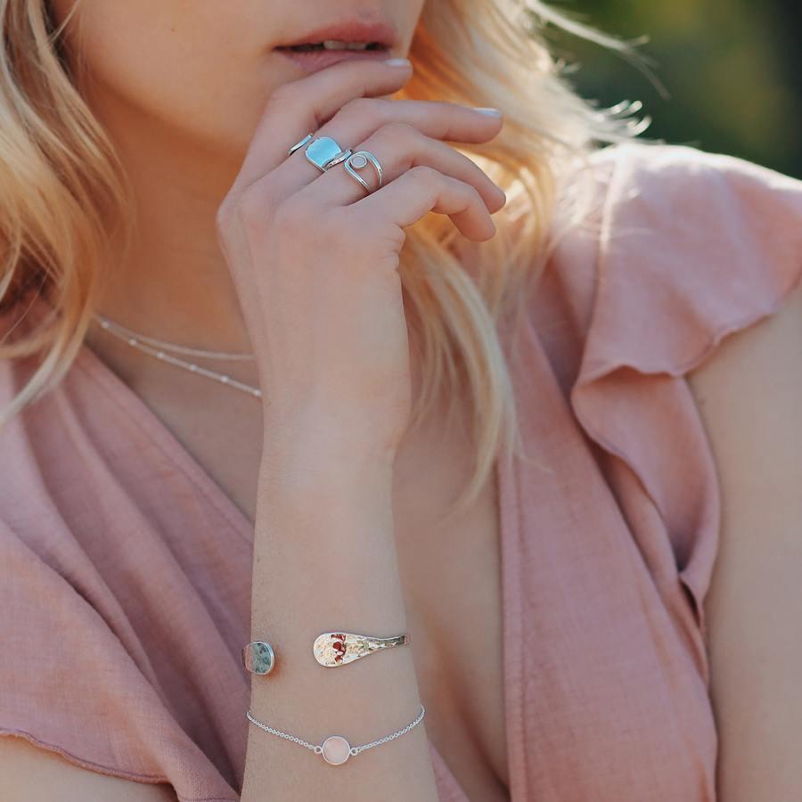 Bague jonc maretele quartz rose pierre aglaiaco %281%29