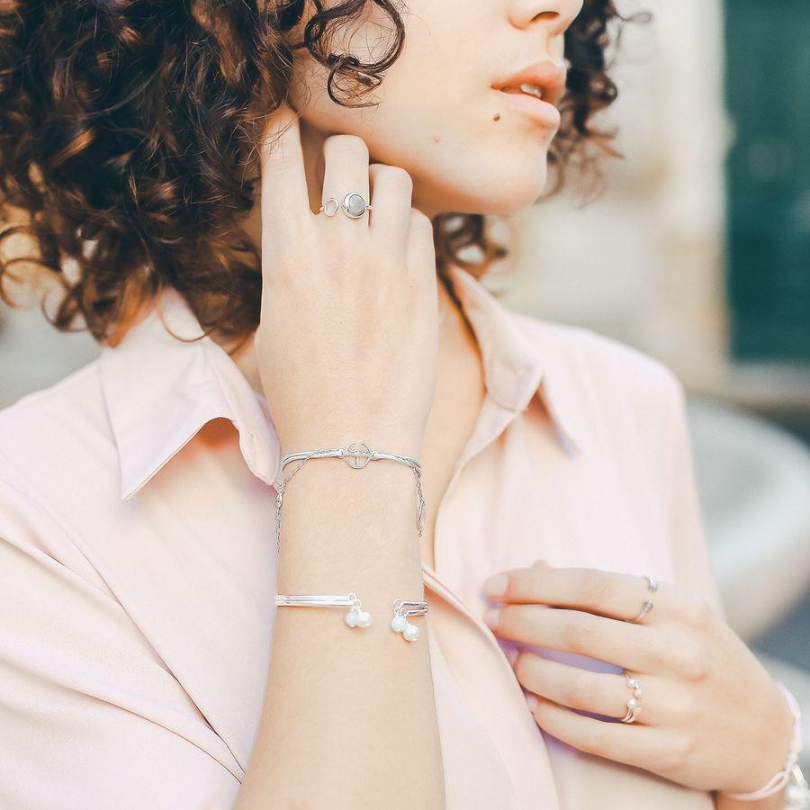 Aglaiaco bijoux argent pierre france ethique bague labradorite