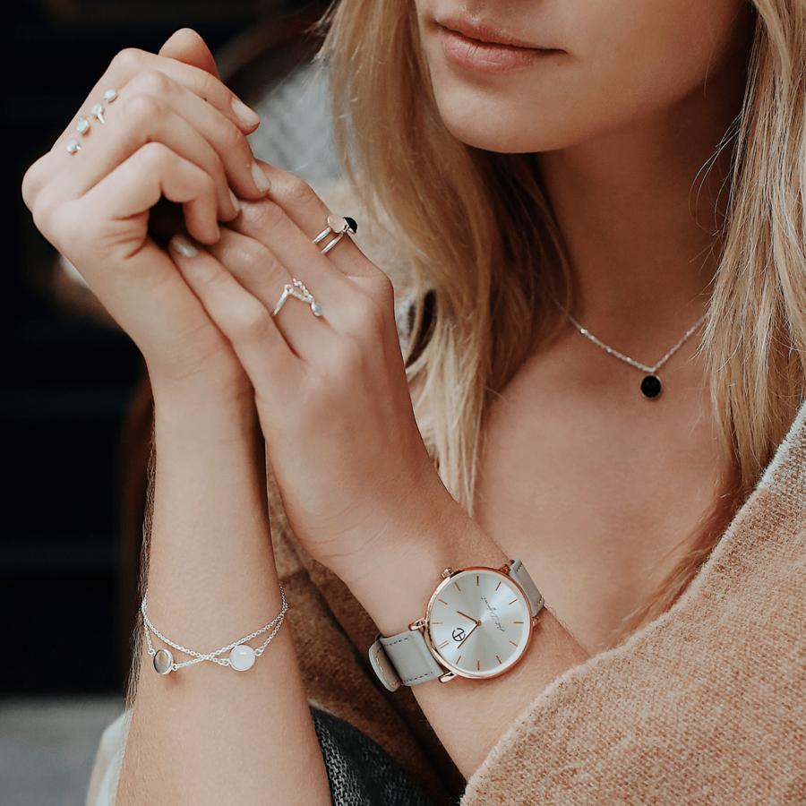 Collier argent bracelet montre bague aglaiaco