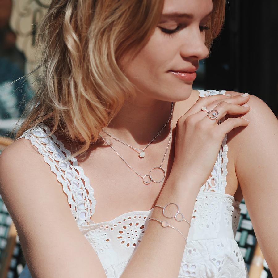 Bijoux bracelet collier argent pierre aglaiaco