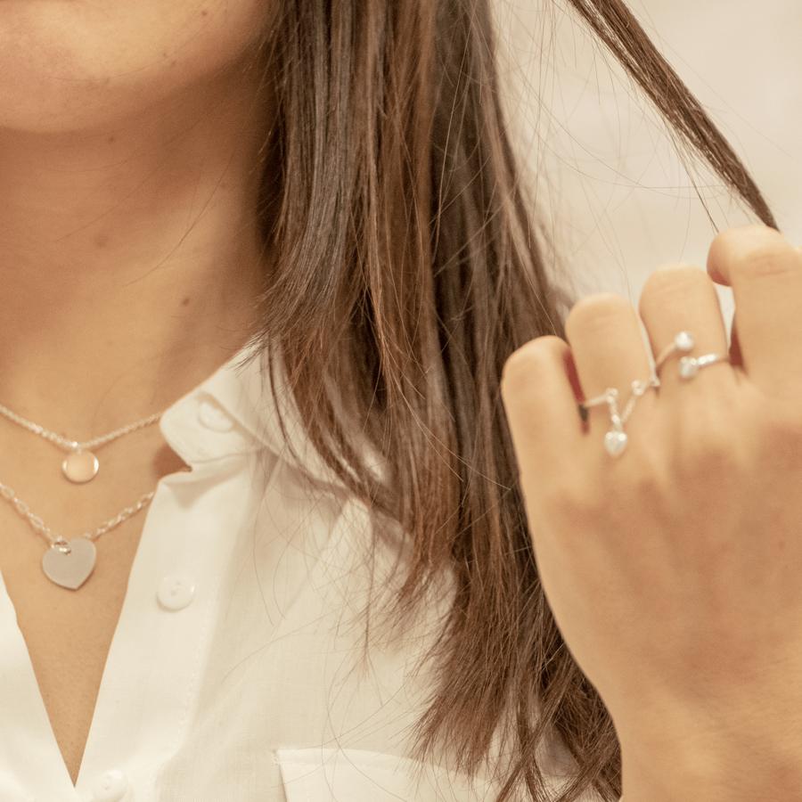 Collier coeur bijoux argent aglaiaco %282%29