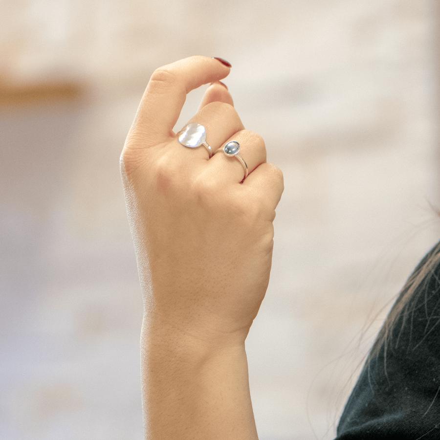 Bague argent nacre fine bijoux ethique aglaiaco %282%29