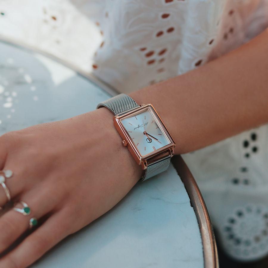 Montre bracelet milanais carr%c3%a9 made in france aglaiaco