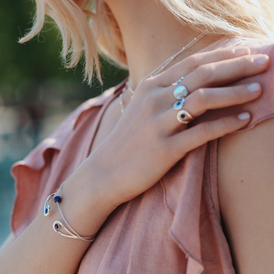 Bague argent lapis lazuli jonc bijoux aglaiaco %281%29