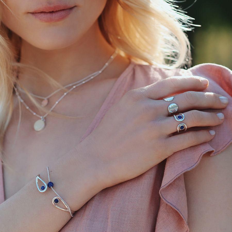 Bague argent lapis lazuli jonc bijoux aglaiaco %282%29