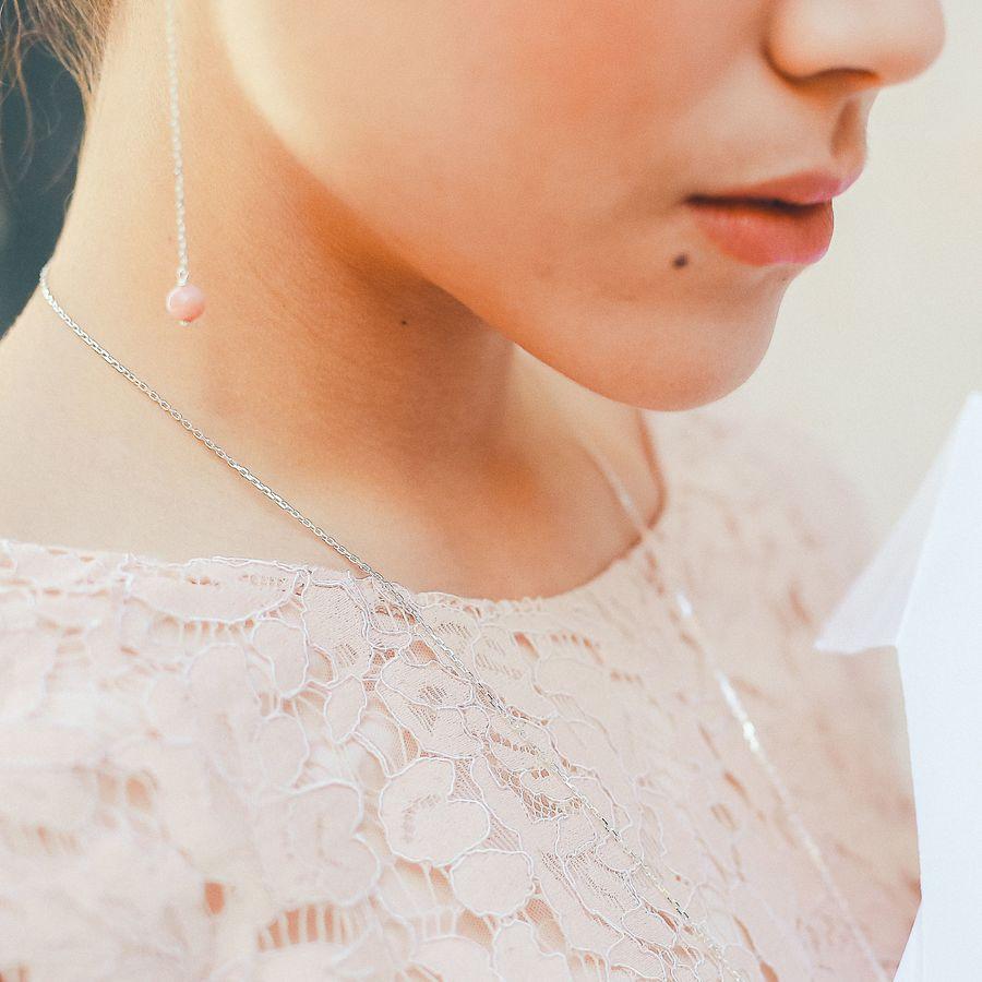 Aglaiaco bijoux argent pierre france ethique boucles oreilles rhodocrosite %281%29