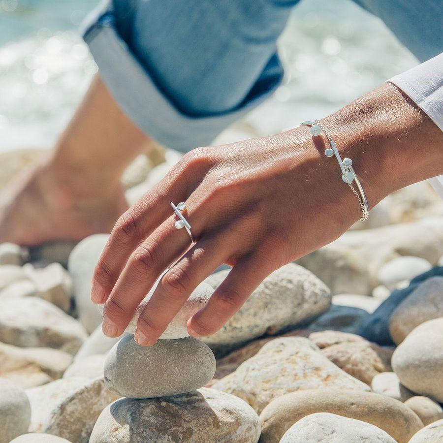 Aglaiaco bijoux argent pierre france ethique equilibre equilibra bracelet bague quartz cabochon %282%29