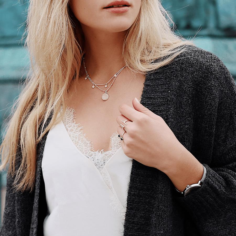 Bijoux collier bracelet argent pierre aglaiaco