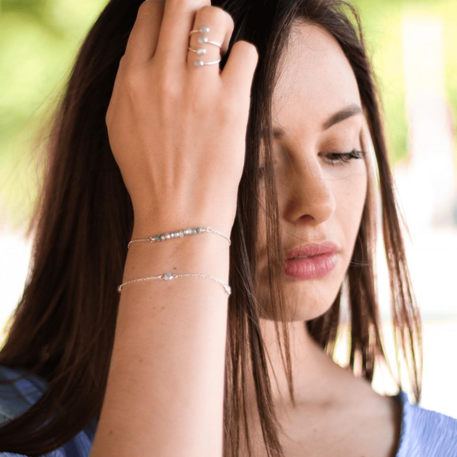 Bracelets argent pierre quartz saphir miss france aglaiaco %281%29
