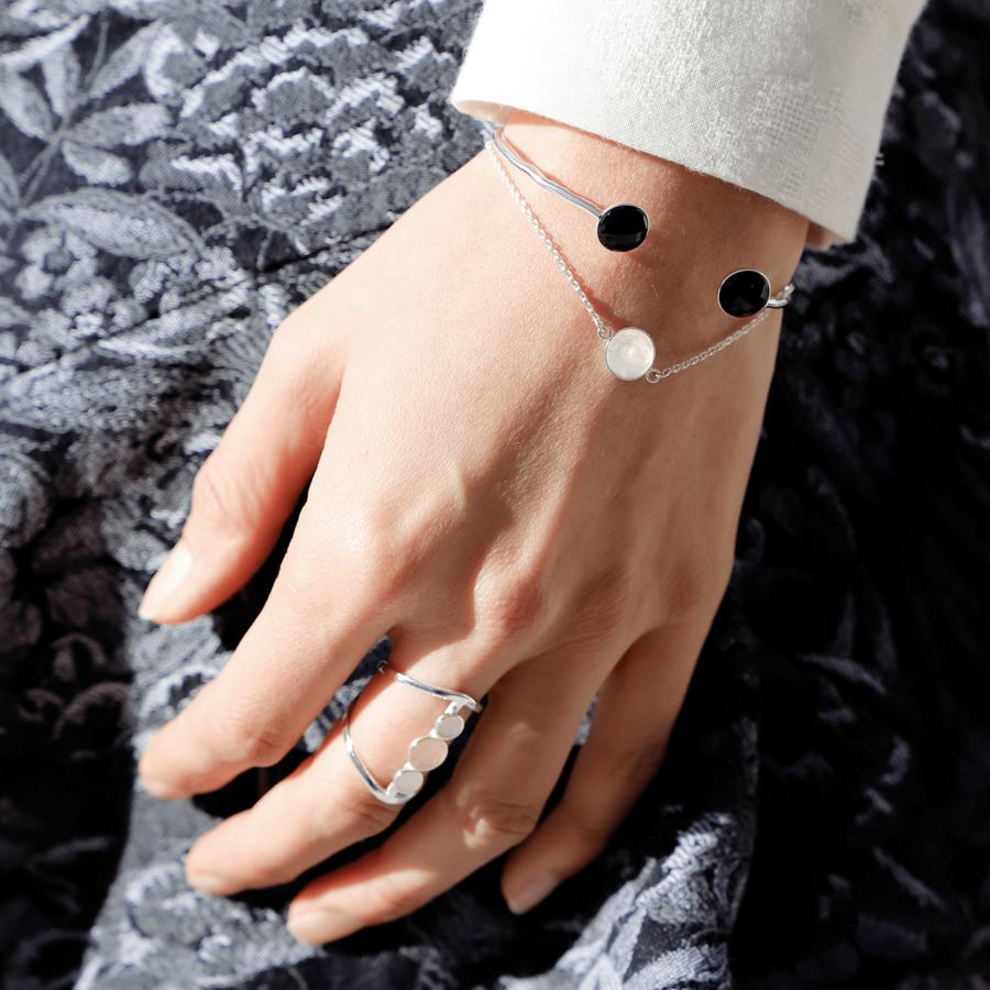 Jonc bracelet bague argent bijoux aglaiaco
