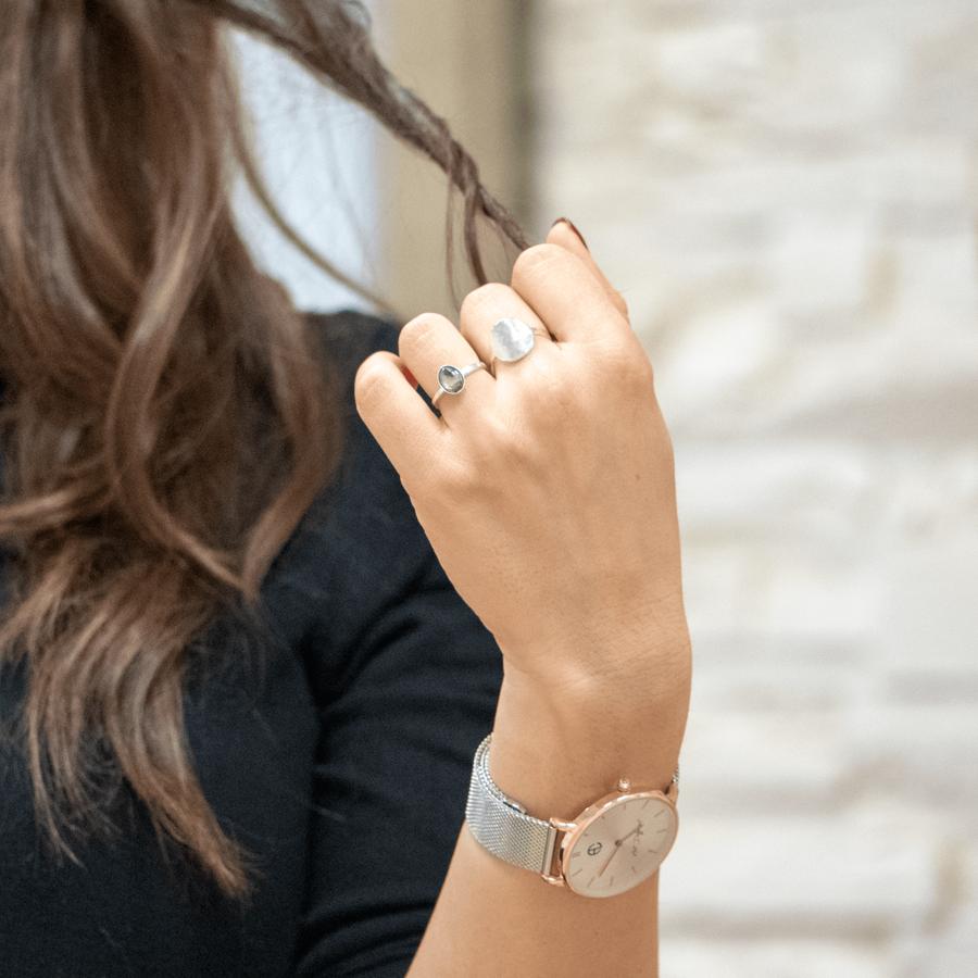 Bague argent nacre fine bijoux ethique aglaiaco %281%29