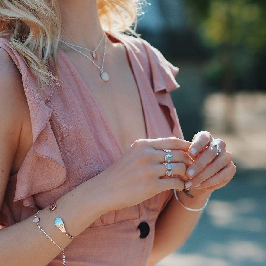 Bijoux argent fin quartz rose aglaiaco %282%29