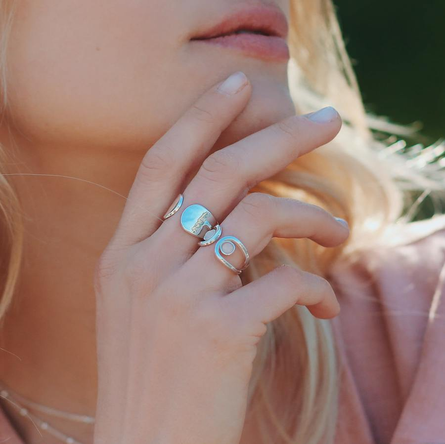 Bague argent massif quartz rose fabrication francaise aglaiaco %281%29