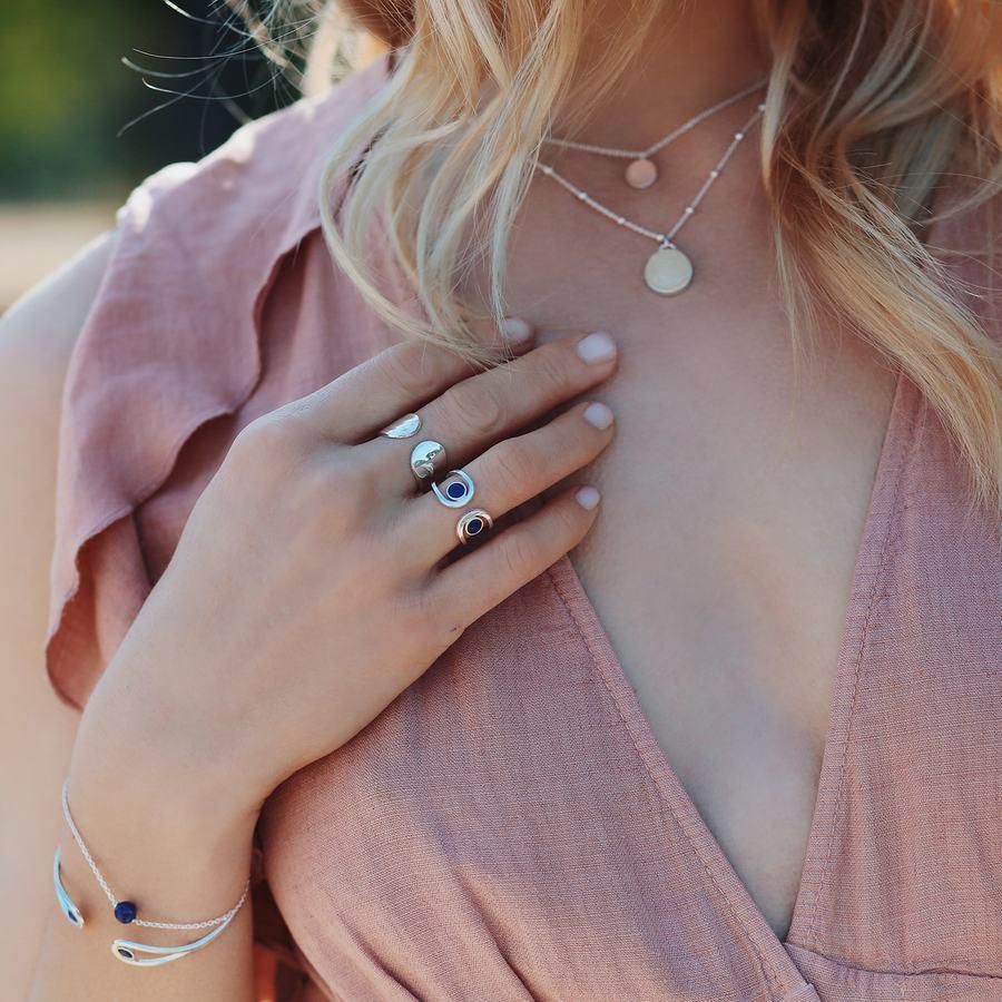 Bague argent lapis lazuli jonc bijoux aglaiaco %285%29