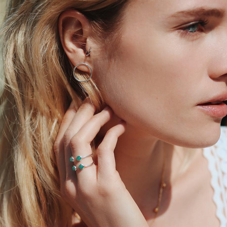 Bague argent boucles oreilles anneaux bijoux aglaiaco %283%29