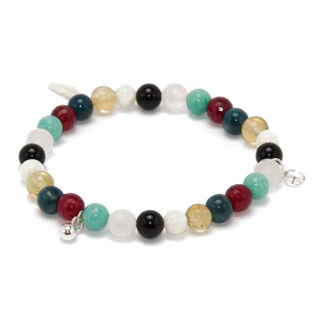 Aglaia bijoux argent pierre bracelet elastique caprice petillant ete 2015 1