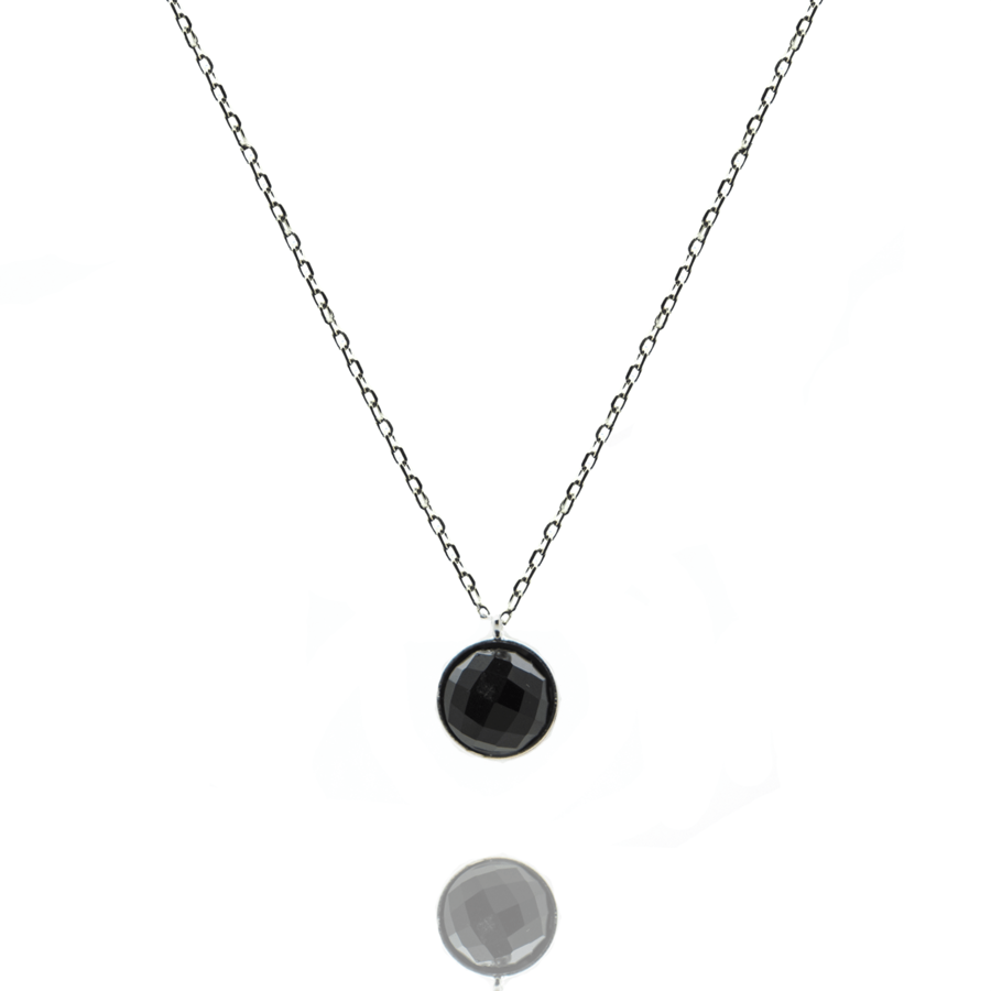 Collier argent mademoiselle onyx aglaiaco