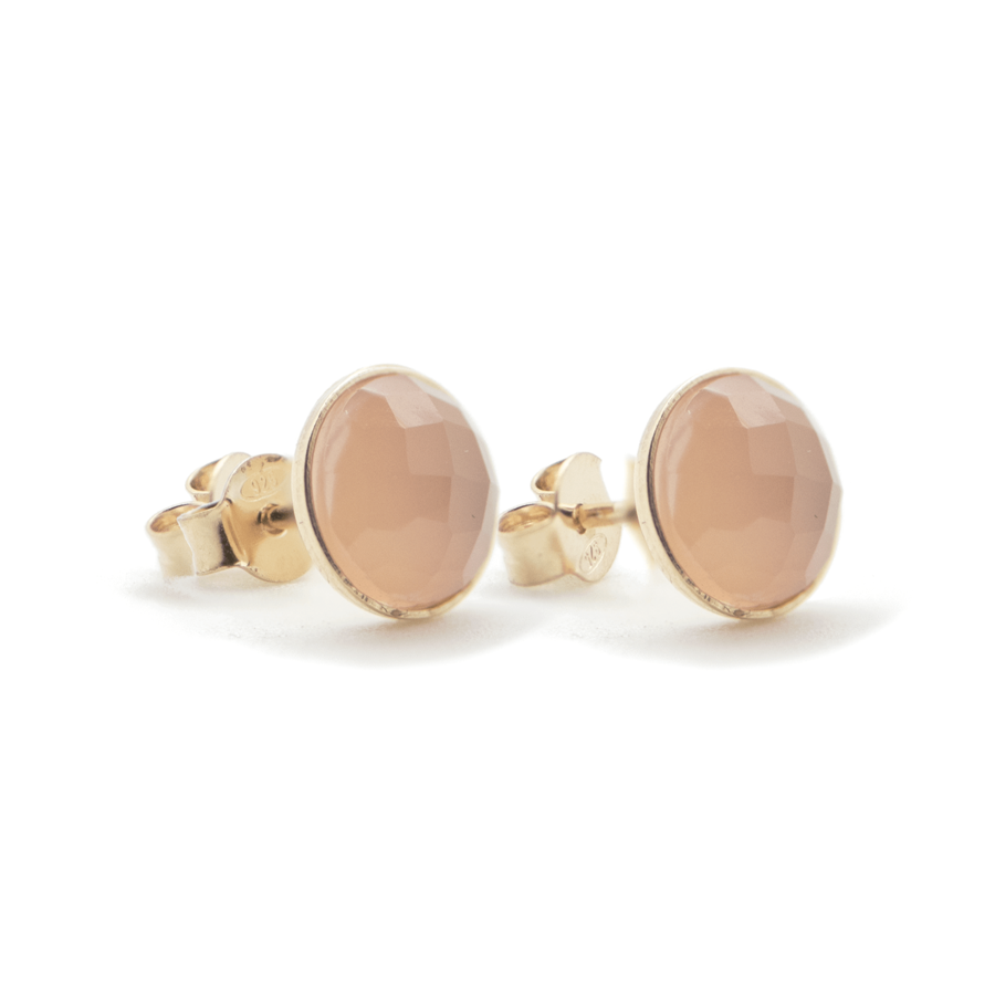 Boucles puce plaqu%c3%a9 or calcedoine rose mademoiselle gold aglaiaco