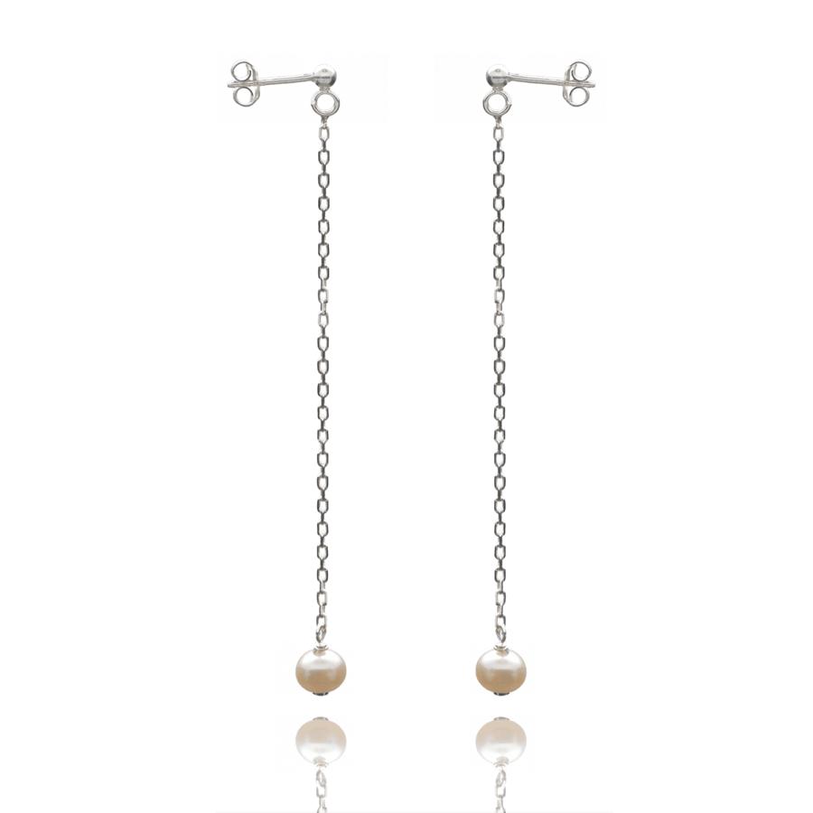 Aglaia bijoux argent pierre boucles oreilles pendant perle culture elegance eternelle 1