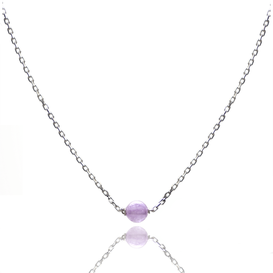 Aglaia bijoux argent pierre collier amethyste lavande elegance eternelle 1