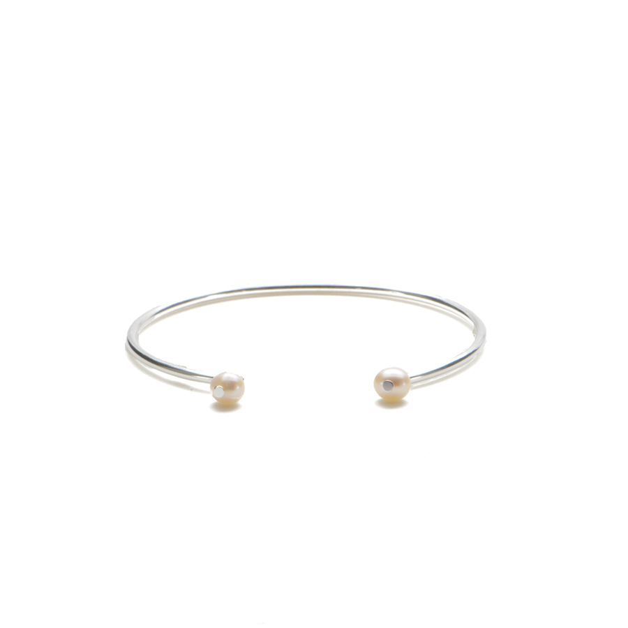 Aglaia bijoux argent pierre bracelet jonc perle culture elegance eternelle 1