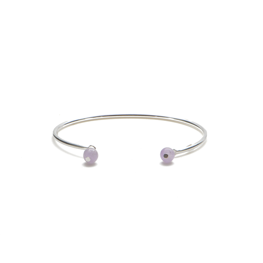 Aglaia bijoux argent pierre bracelet jonc amethyste elegance eternelle 1