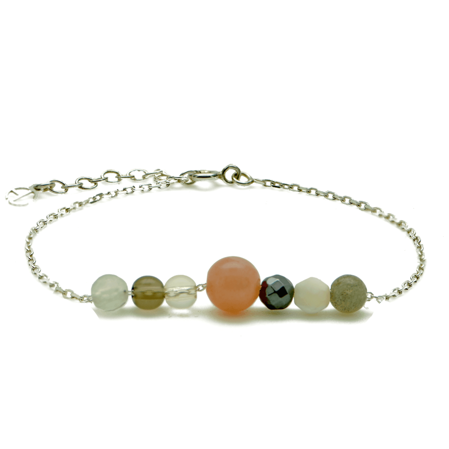 Aglaia bijoux argent pierre bracelet automne caprice petillant 1