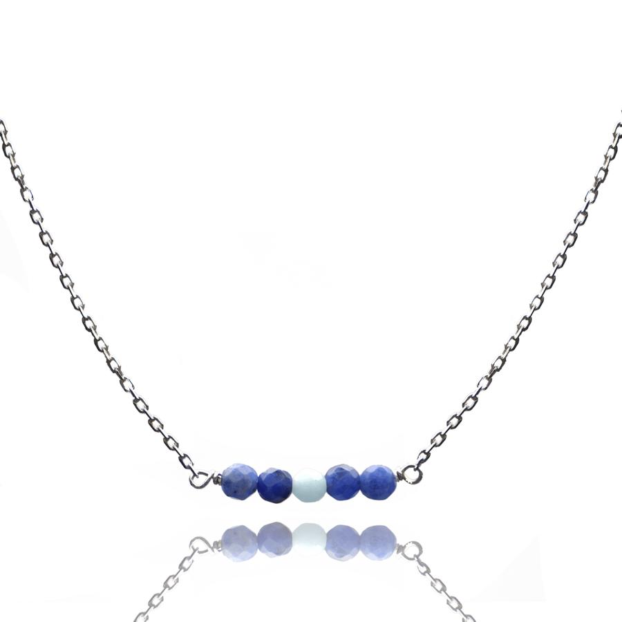 Aglaia bijoux argent pierre collier reve bleu reve eau profonde 1