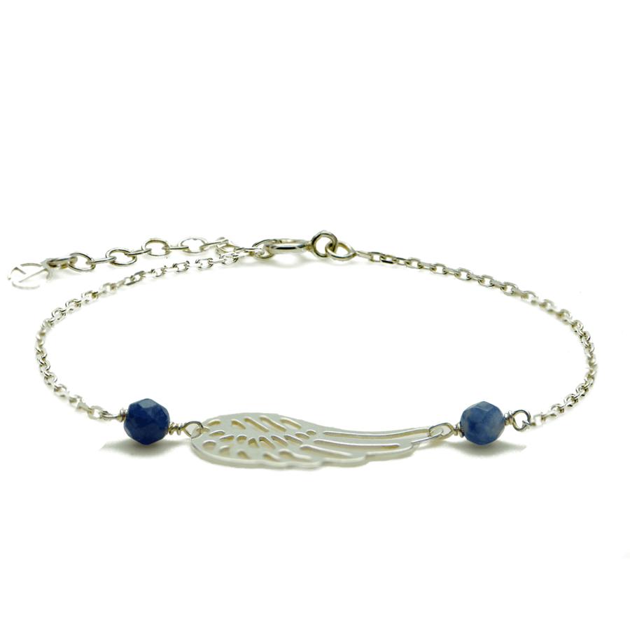 Aglaia bijoux argent pierre bracelet aile ange reve eau profonde 1