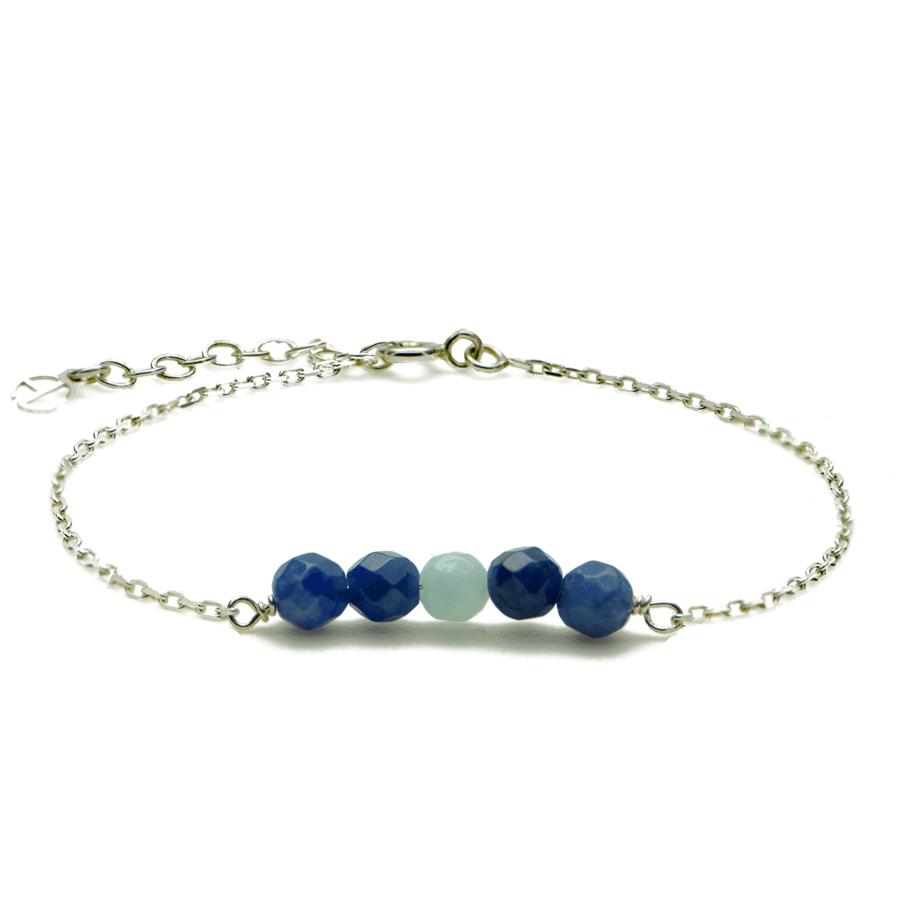 Aglaia bijoux argent pierre bracelet reve bleu reve eau profonde 1