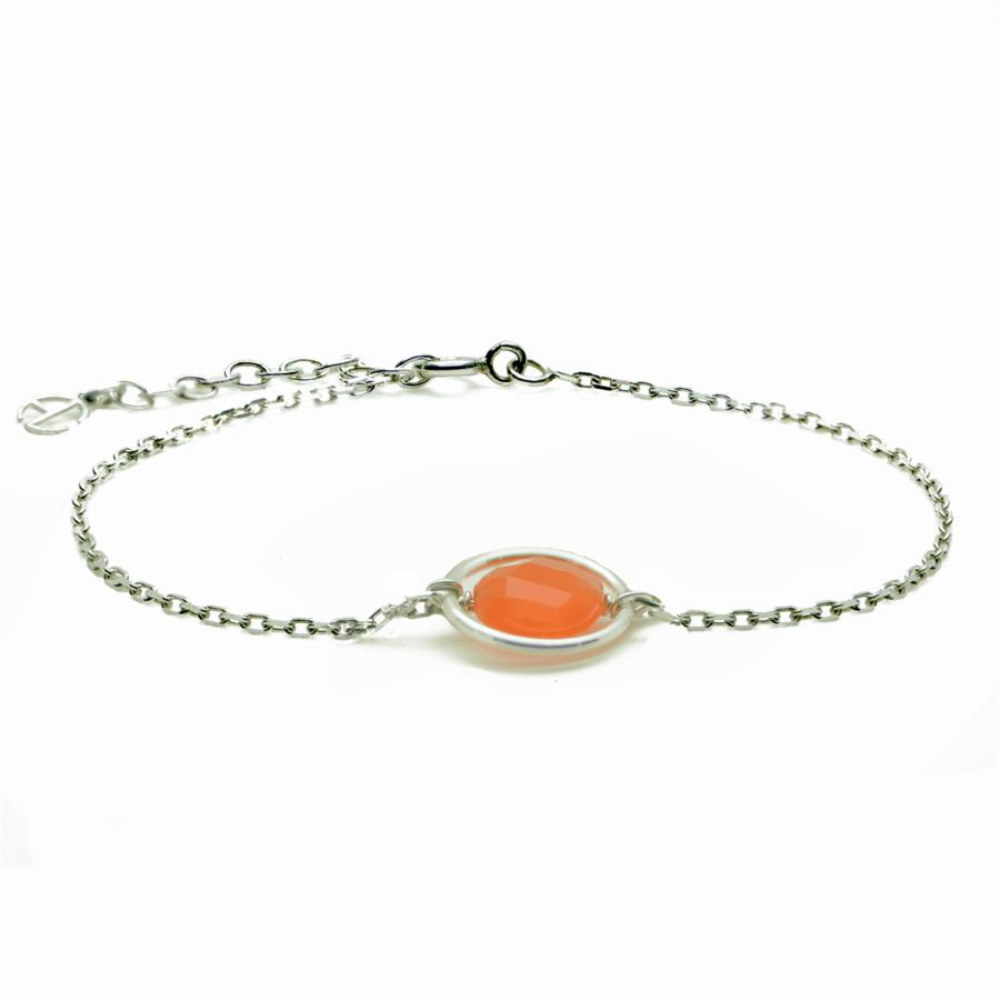 Aglaia bijoux argent pierre bracelet anneau cornaline me 1