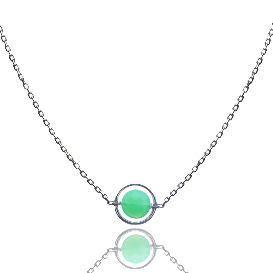 Aglaia bijoux argent pierre collier anneau chrysoprase o 1