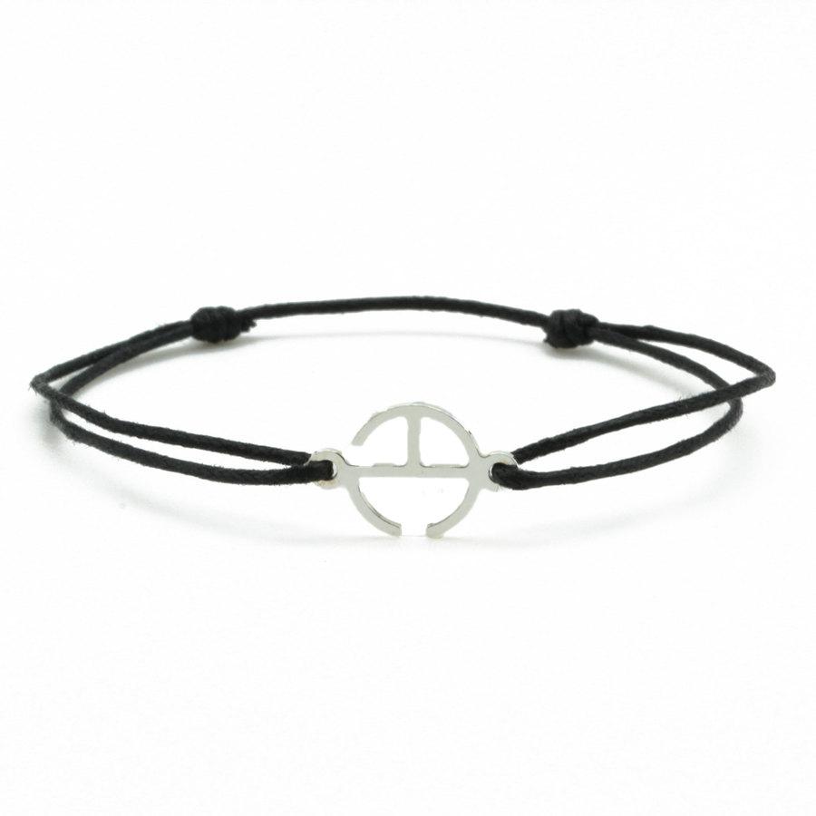 Aglaia bijoux argent pierre bracelet cordon noir signature 1