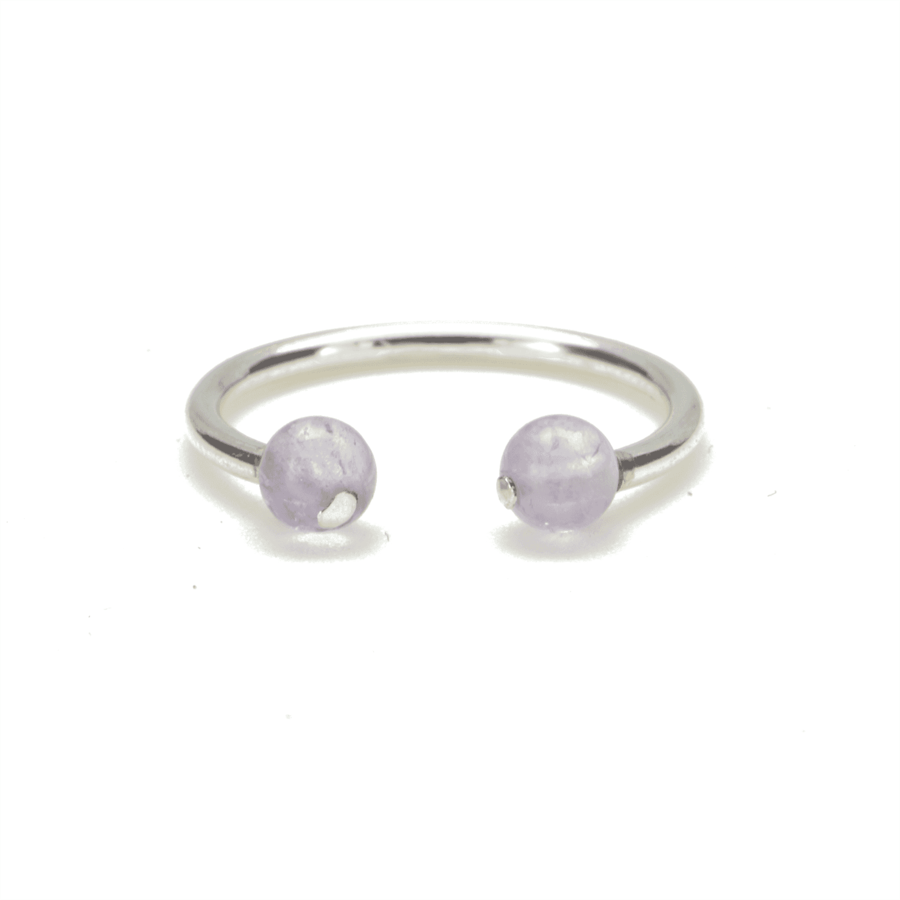 Aglaia bijoux argent pierre bague amethyste elegance eternelle 1