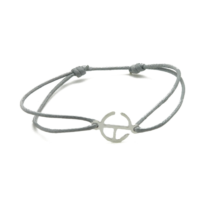 Aglaia bijoux argent pierre bracelet cordon gris clair signature 1